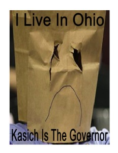 Bag On Head Kasich Ohio