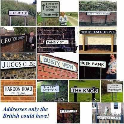 British addresses