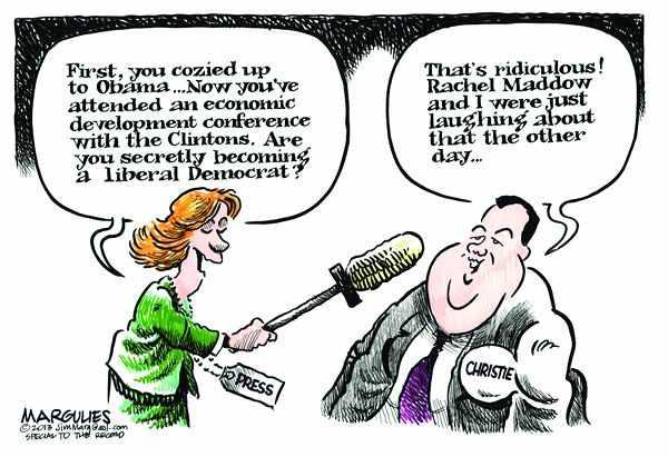 Christie, Maddow,Obama
