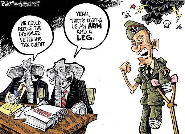 GOP takes vets benefits