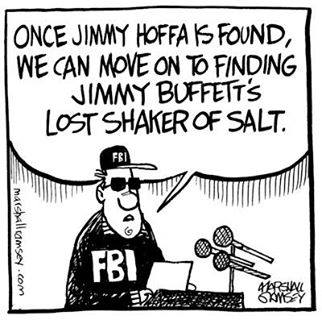 Jimmy Hoffa, Jimmy Bufett's lost salt