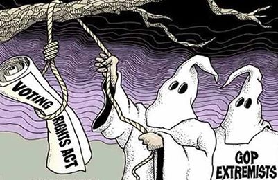 KKK hanging voting rights