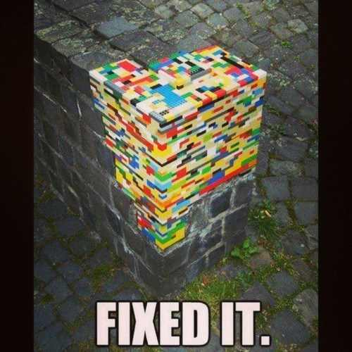Leggos fix wall