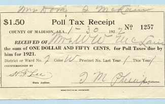 poll tax reciept photo