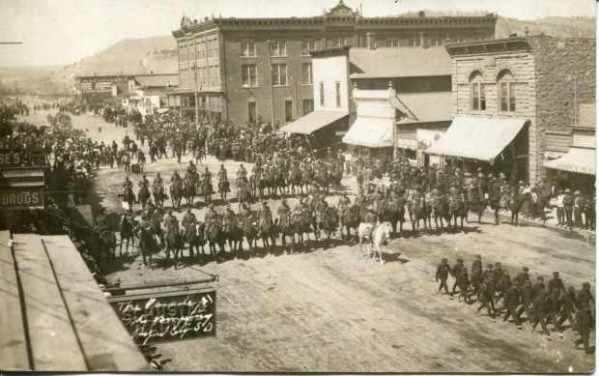 A parade in Rapid City, SD in 1912.