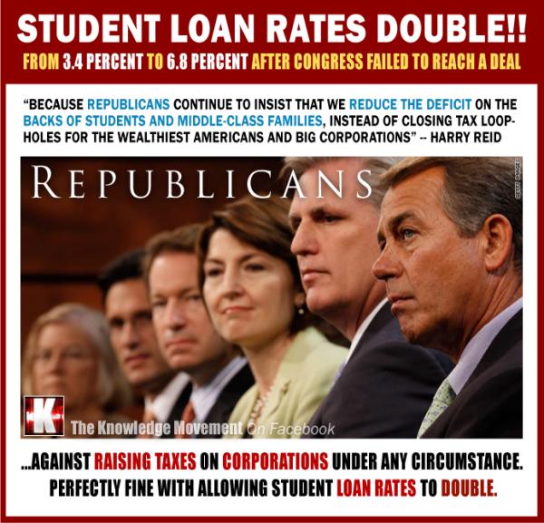 6-Deficient GOP assholes, student rates