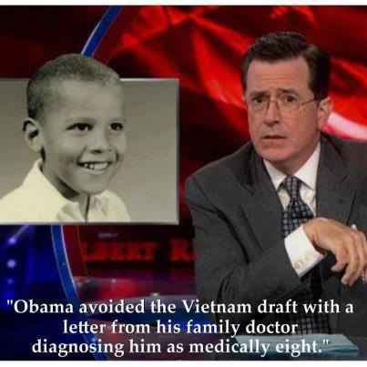 Obama avoided draft, funny