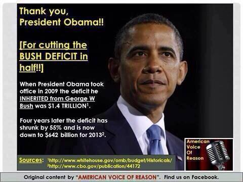 Obama cut deficit