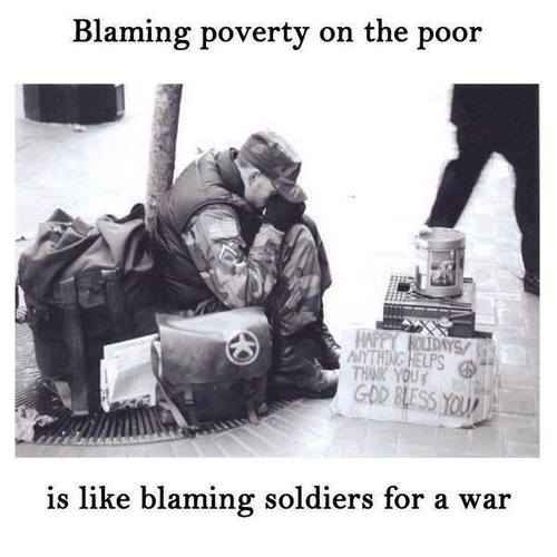 Blame poverty on poor-Soldiers for War
