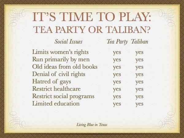 Tea Party or Taliban