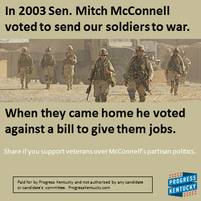 Mitch Bitch voted against vets