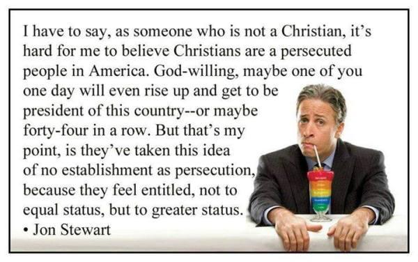 Jon Stewart Christian Persecution
