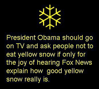 Obama And Yellow Snow