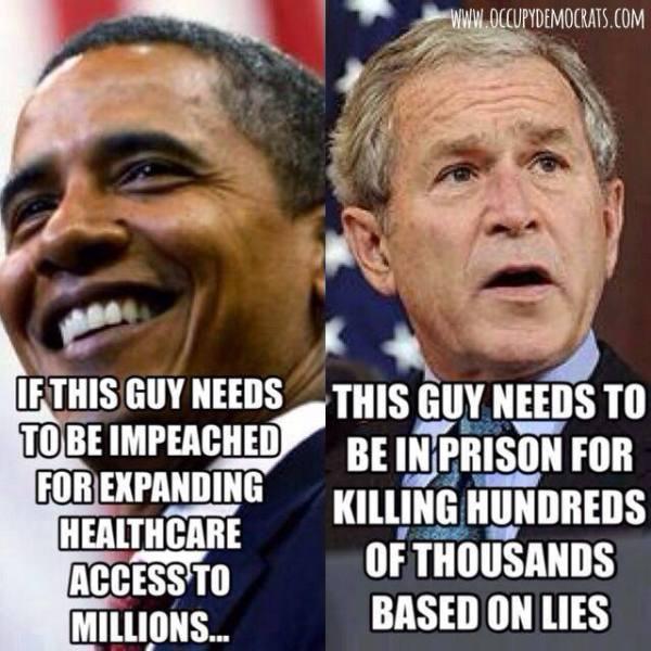 Obama Bush Comparison