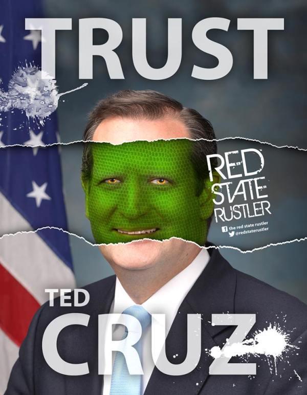 Ted (Rafael) Cruz reptile