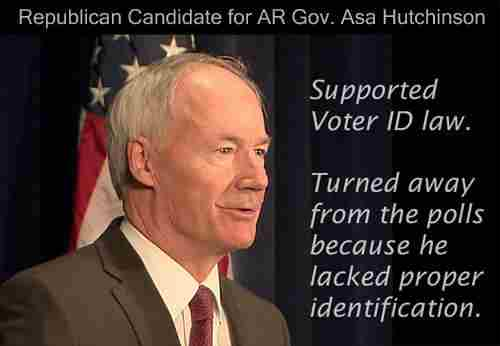 AR Gov No ID Cannot VOTE LOL