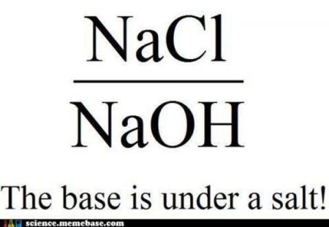 Base under a salt