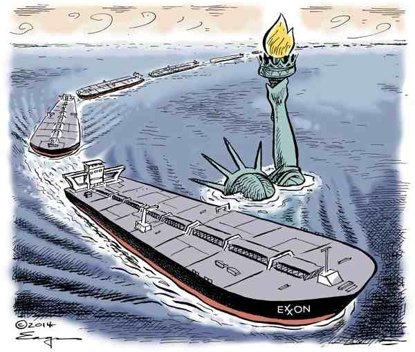 Oil tankers-Statue of Liberty