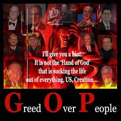 rethug Greed Over People