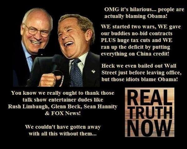 bush cheney BLAME OBAMA