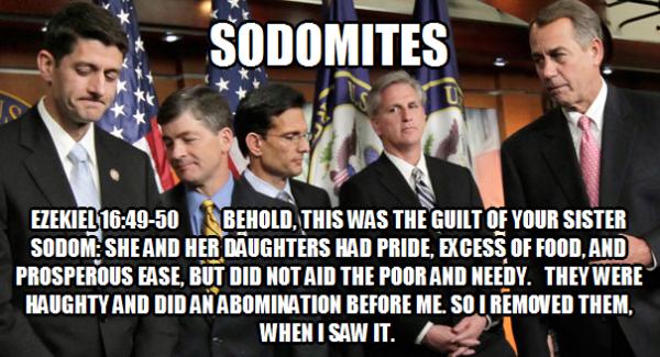 GOP Sodomites Verse