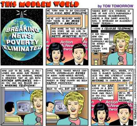 There is no poverty-Tom Tomorrow