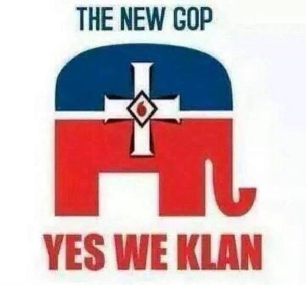 KKK Yes we Klan elephant