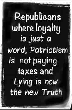 RETHUG..loyalty just a word