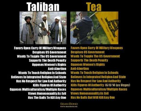 Taliban same as Teabaggers